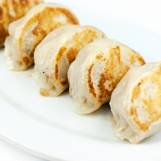 5-4 Pan Fried Chicken Mushroom Dumplings