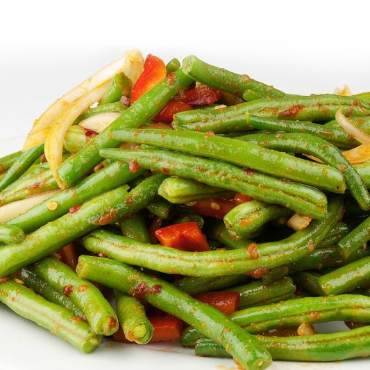 Dry-Fried String Beans with Minced Pork