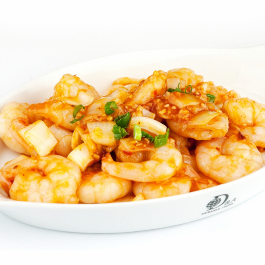 8. Pan-Fried Prawns with Simple Sauce