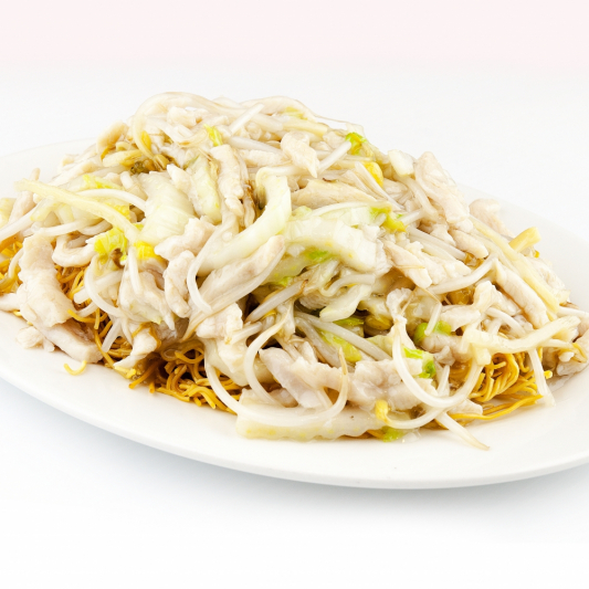 78. Shredded Pork Chow Mein with Bean Sprouts