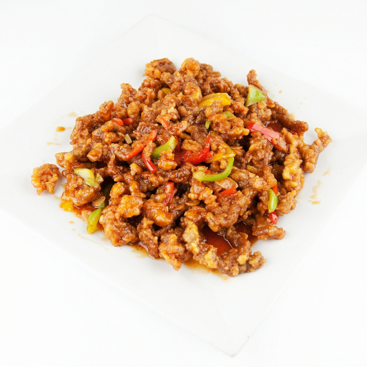 90. Szechuan Style Fried Shredded Beef (Ginger Beef)