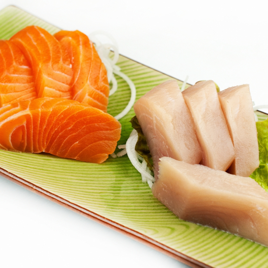78. Tuna & Salmon Sashimi (10 pcs)