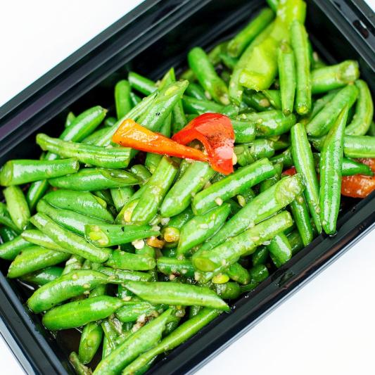 127B. Braised Bean Leave with Garlic