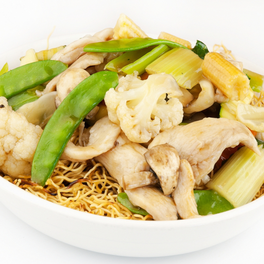 Chicken and Vegetable Chow Mein