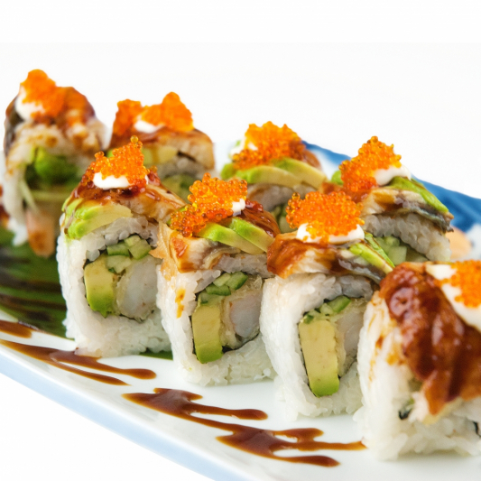 Green Dragon Roll (8 pcs)