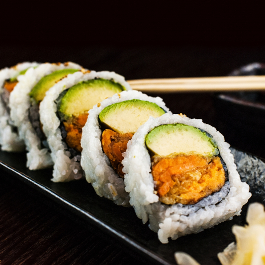 Yam and Avocado Roll
