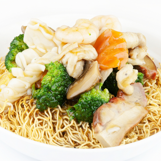 M14 House Special Chow Mein ( mixed meat & seafood)