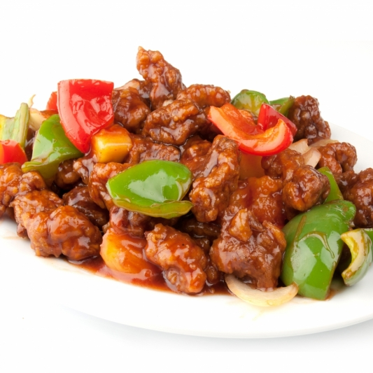 40. Sweet-and-Sour Pork on Rice