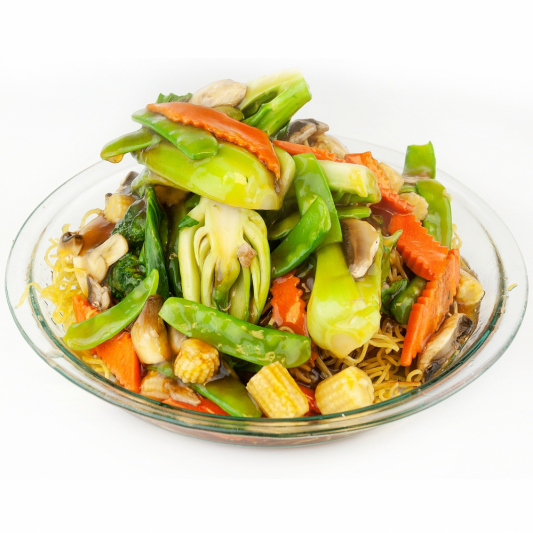 Mixed Vegetables on Chow Mein or Steamed Rice