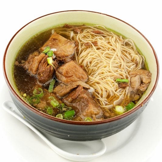 272. Thick Rice Noodle Soup with Beef Stew