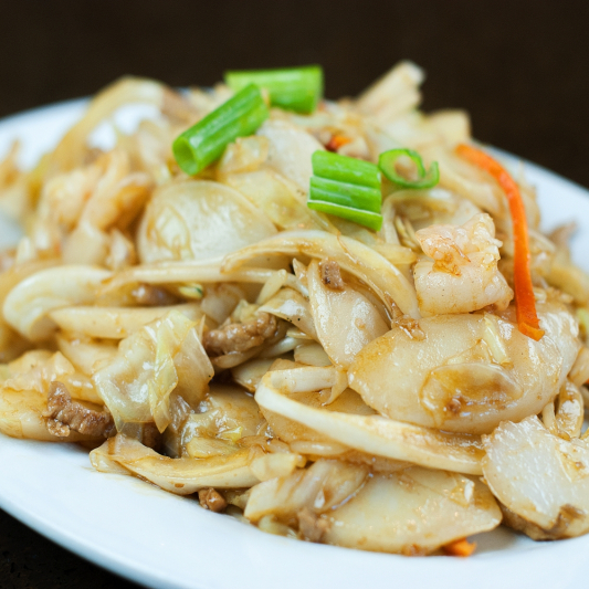 E21. Stir Fried Rice Cake With Beef In The Chili Sauce