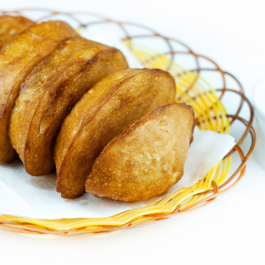 Deep-Fried Golden Buns with Condensed Milk (4 pcs)