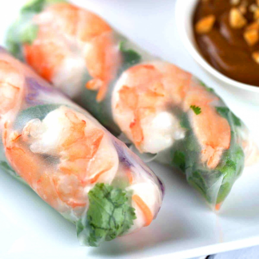 19. Shrimp Rice Rolls