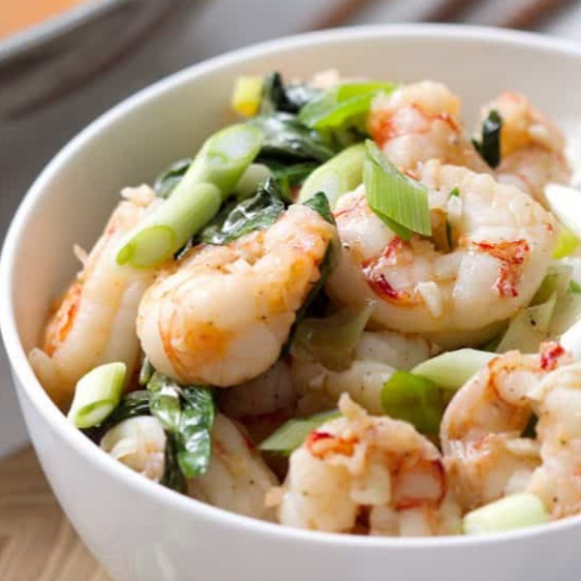 Basil Shrimp and Vegetables
