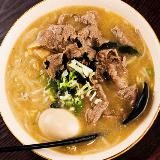 47. Ramen with Chicken or Beef and Egg