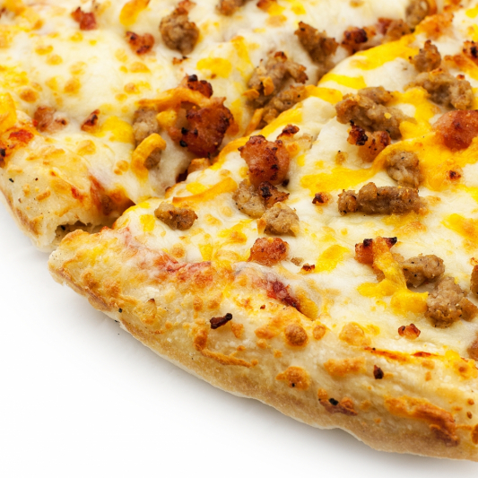 Triple Cheese Bacon Burger Pizza