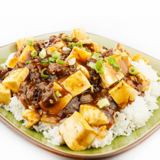117. Minced Beef with Tofu on Rice
