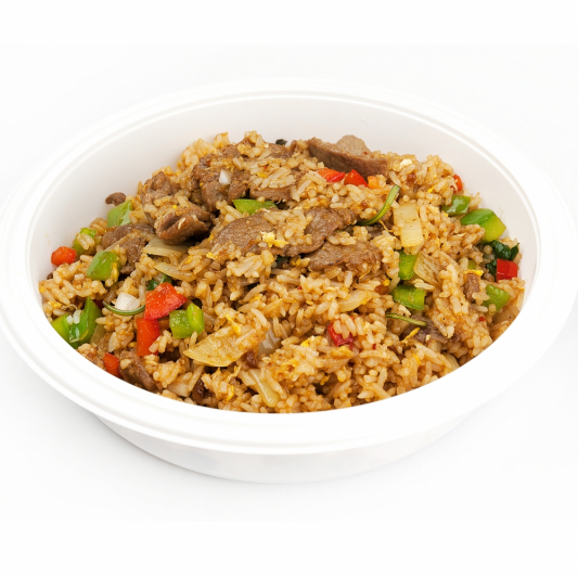 Basil Fried Rice with Beef