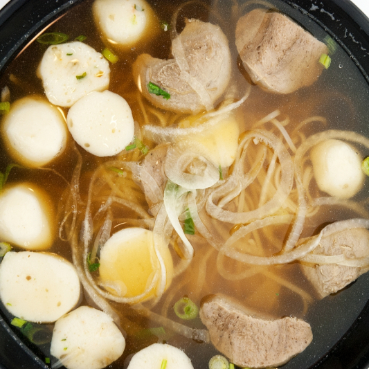 Beef Ball with Rice Noodle Soup