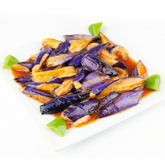 Eggplant with Hot Garlic Sauce 魚香茄子