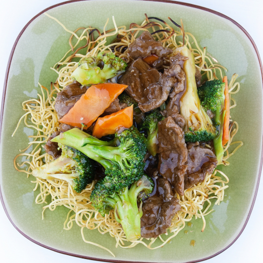 73. Curry Beef Chow Mein