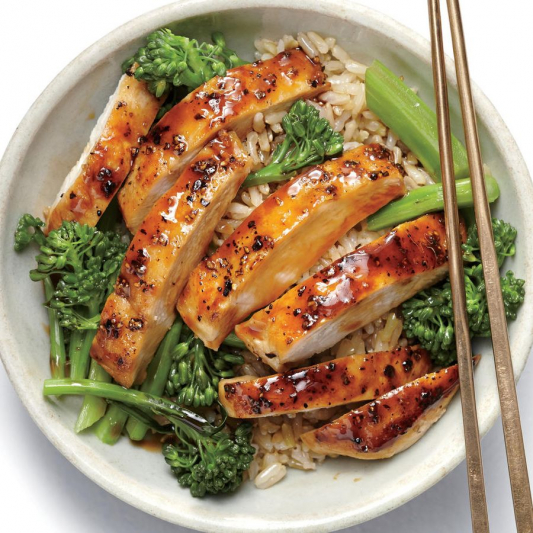 T18. Chicken Teriyaki with Steamed Rice & Mixed Vegetables