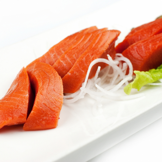 Wild Sockey Salmon Sashimi (7pc)