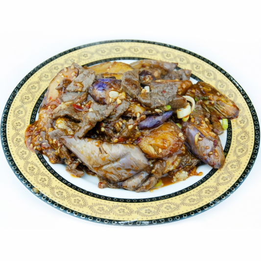 L9. Eggplant with Shrimp Stuffing (3 pcs)