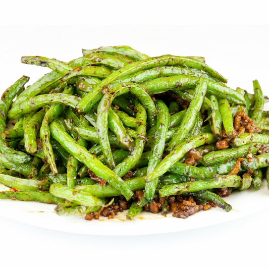 P17 Szechuan Spicy Green Bean with Pork