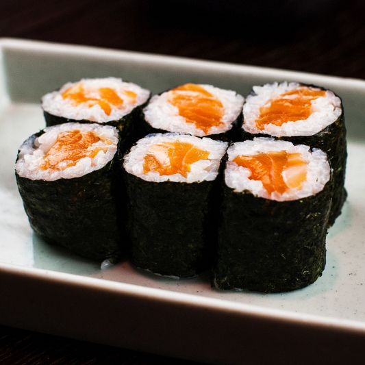 7. Wild Salmon Roll (6 pcs)