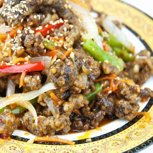 Sliced Beef with Ginger and Green Onion