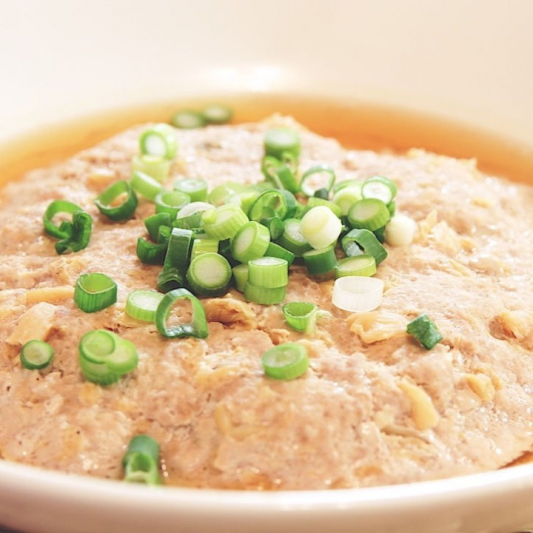 Panfried Minced Beef Patty With Salted Fish