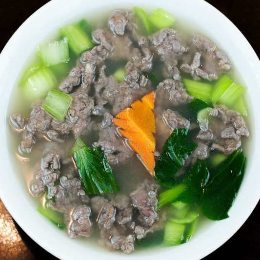 Minced Beef and Tofu Soup