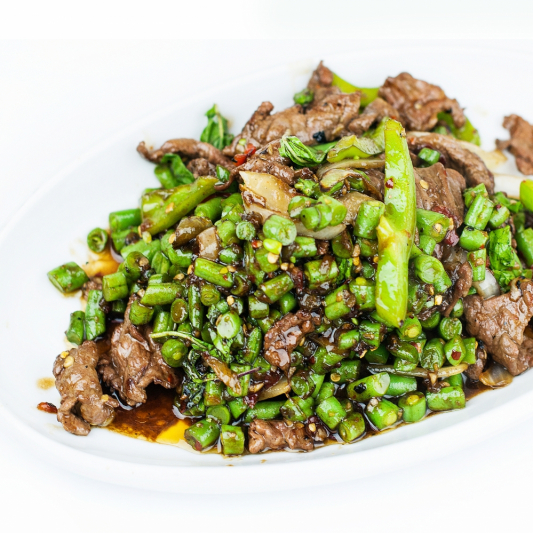 114. Minced Beef with Spinach