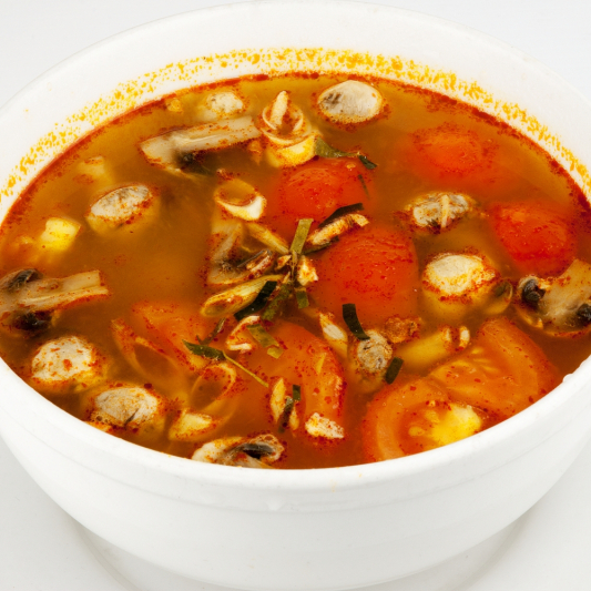 10. Spicy Prawns Soup (Tom Yum Goong)