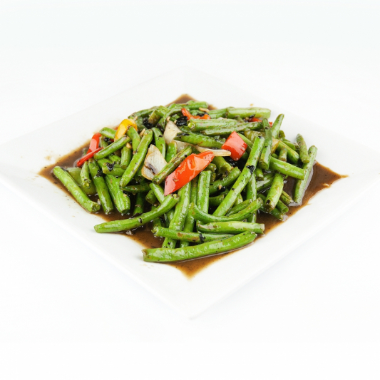 94. Fried Green Beans in Black Bean Sauce