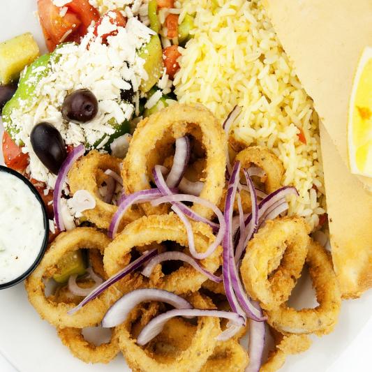C10. Fried Calamari with Rica Sauce