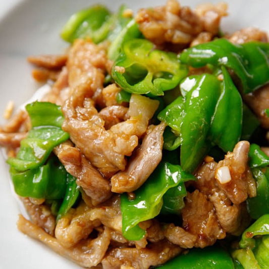 110. Sauteed Sliced Pork with Peppery and Chili