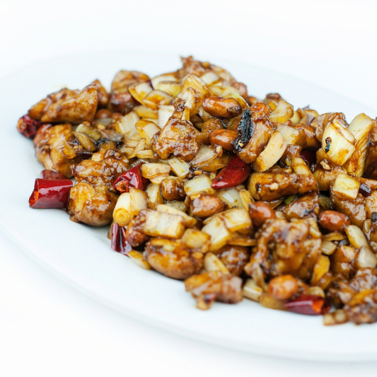 210. Kung Po Spicy Diced Chicken with Peanuts
