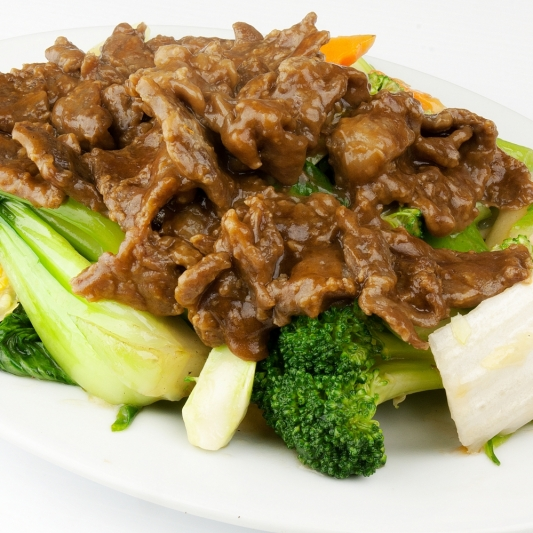 40. Chicken, Beef, or BBQ Pork Chop Suey