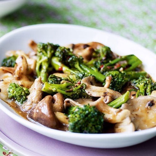 154. Stir-Fried Vegetables with Chinese Mushrooms