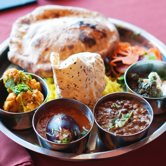 South Indian Chicken Thali