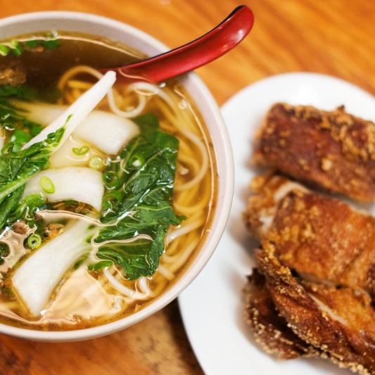 150. B.B.Q. Duck Noodle in Soup