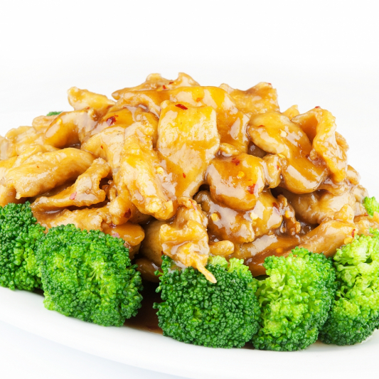 31. Sliced Chicken with Broccoli