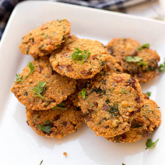Dhal and Spinach Vadai