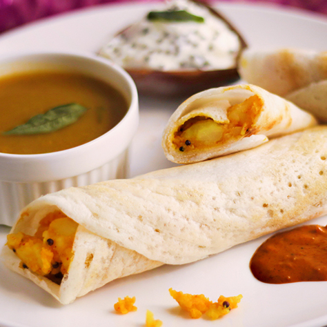 Non-Veg and Mixed Vegetables Dosa