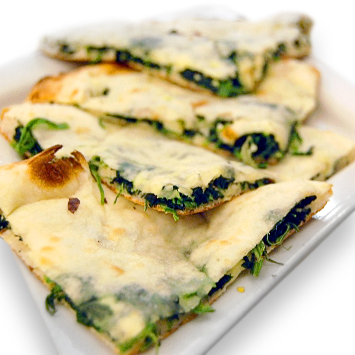 Spinach and Cheese Stuffed Naan