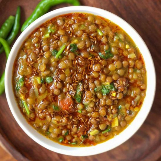 8. Lentil with Spinach