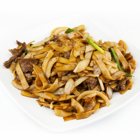 108 Stir Fried Flat Rice Noodle With Sliced Beef In Soy Sauce Grand Seasons Restaurant
