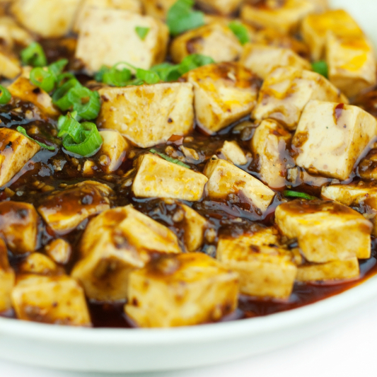 66. Braised Tofu with Minced Beef